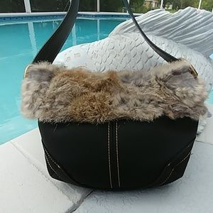 Coach Rabbit Fur small Hobo LMTD EDTN 9489